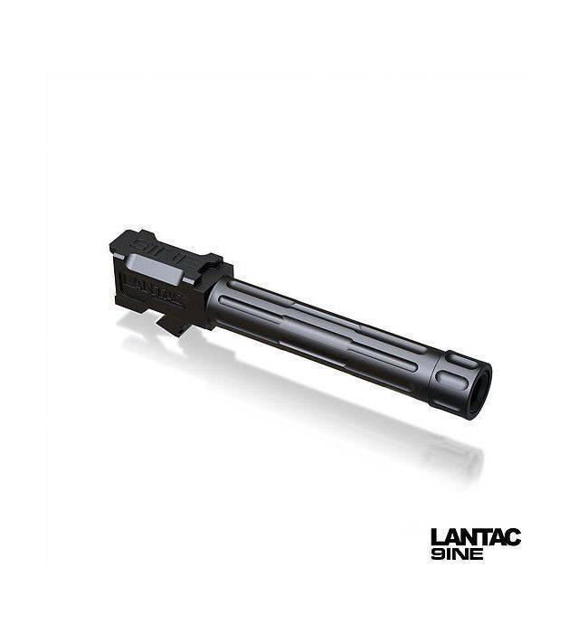 Lantac Lantac 9INE G19 Fluted Threaded Black Barrel