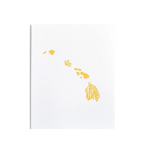 "Thimblepress Hawaii Pua Aloalo Letterpress Print 11x14"""