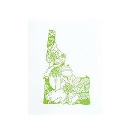 "Thimblepress Idaho Syringa - Mock Orange Letterpress Print 11x14"""