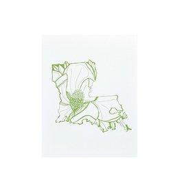 "Thimblepress Louisiana Magnolia Letterpress Print 11x14"""