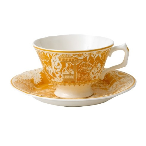 Royal Crown Derby Royal Crown Derby Mikado Cantaloupe Breakfast Saucer