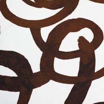 steve mckenzie's Loop Print Fabric Oyster Background