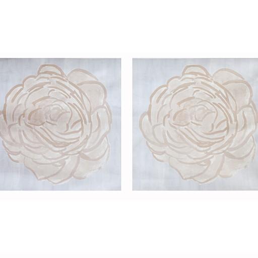 "steve mckenzie's Blush Single Rose Pillow 24"" x 24"" (2 printed)"