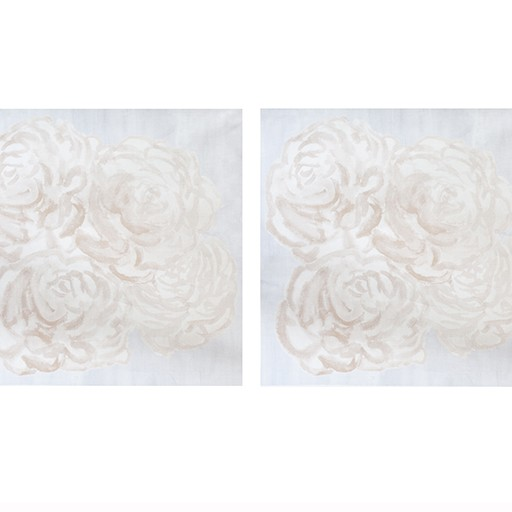 "steve mckenzie's Blush Rose Arrangement Pillow 24"" x 24"" (2),printed,"
