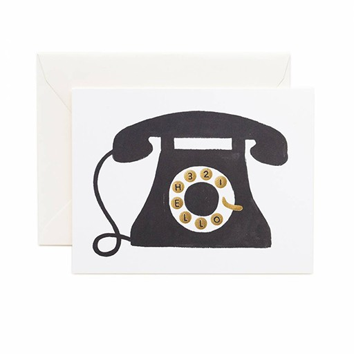 Rifle Paper Co Hello Telephone Card Blank Inside