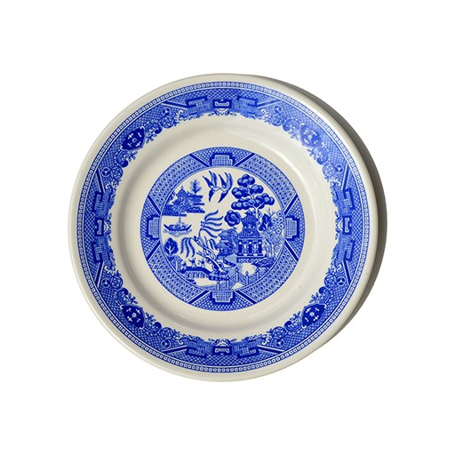 Vintage Blue Willow Dinner Plate