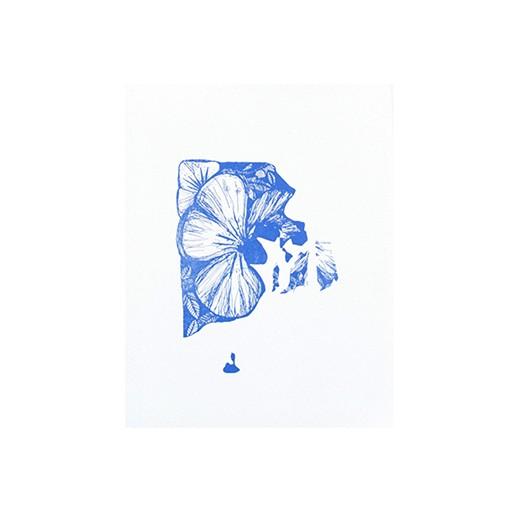 "Thimblepress Rhode Island Violet Letterpress Print 11x14"""