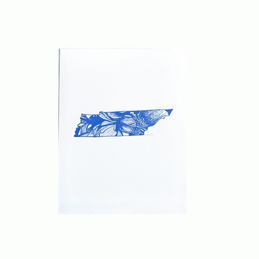 """Thimblepress Tennessee Iris Letterpress Print 11x14"""""""