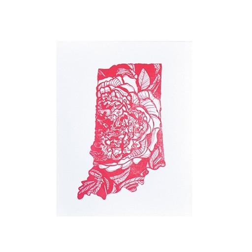 "Thimblepress Indiana Letterpress Print 11x14"""