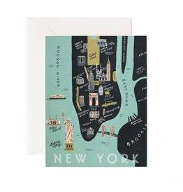 Rifle Paper Co Manhattan Map Card Blank Inside