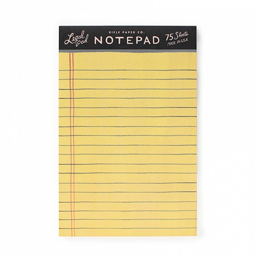 Rifle Paper Co Legal Notepad