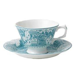 Royal Crown Derby Royal Crown Derby Mikado Turquoise Breakfast Cup