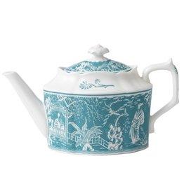 Royal Crown Derby Royal Crown Derby Mikado Turquoise Teapot Small 30 oz.,