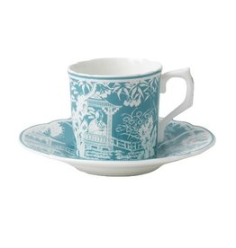 Royal Crown Derby Royal Crown Derby Mikado Turquoise Coffee Saucer