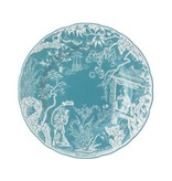 Royal Crown Derby Royal Crown Derby Mikado Turquoise Salad Plate