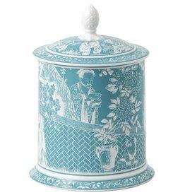 Royal Crown Derby Royal Crown Derby Mikado Turquoise Storage Jar 35oz