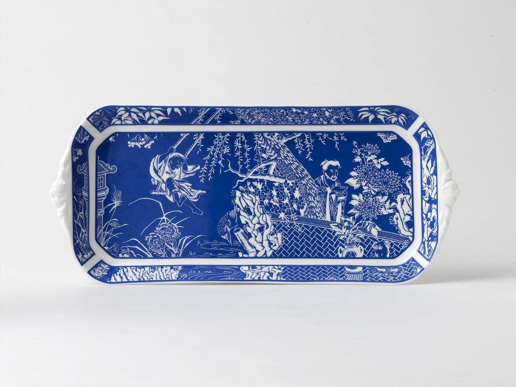 Royal Crown Derby Royal Crown Derby Mikado Blue Sandwich Tray