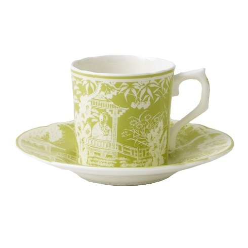 Royal Crown Derby Royal Crown Derby Mikado Lime Coffee Saucer