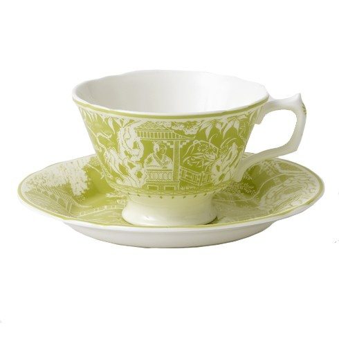 Royal Crown Derby Royal Crown Derby Mikado Lime Breakfast Saucer