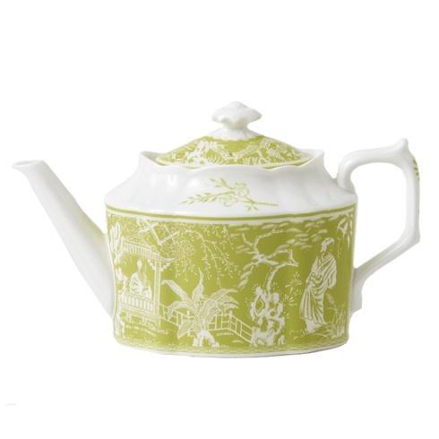 Royal Crown Derby Royal Crown Derby Mikado Lime Teapot Small 30 oz.