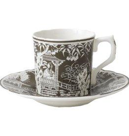 Royal Crown Derby Royal Crown Derby Mikado Taupe Coffee Cup