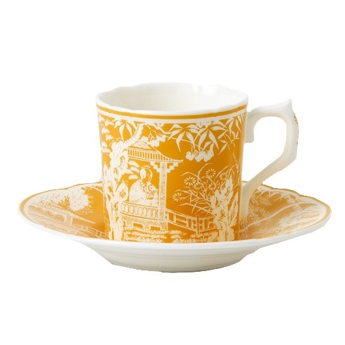 Royal Crown Derby Royal Crown Derby Mikado Cantaloupe Coffee Saucer