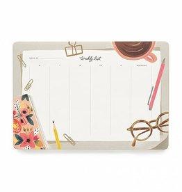Rifle Paper Co Desktop Weekly Desk Pad