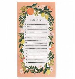 Rifle Paper Co Citrus Floral Market Pad w/ Attachable Magnet