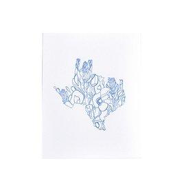 """Thimblepress Texas Bluebonnet Letterpress Print 11x14"""""""