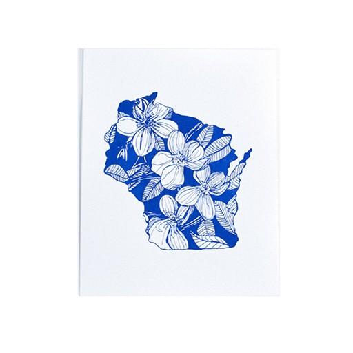 "Thimblepress Wisconsin Wood Violet Letterpress Print 11x14"""