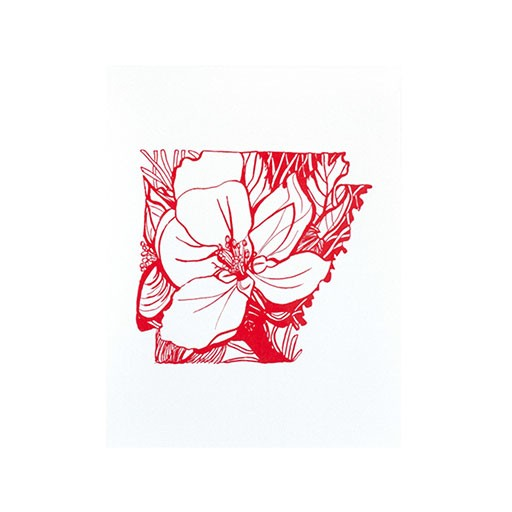 "Thimblepress Arkansas Apple Blossom Letterpress Print 11x14"""