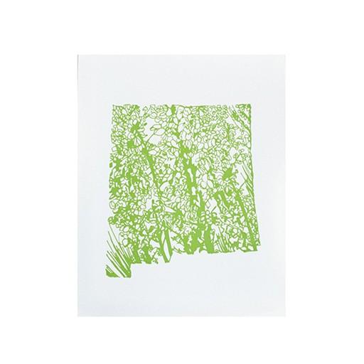 "Thimblepress New Mexico Yucca Flower Letterpress Print 11x14"""