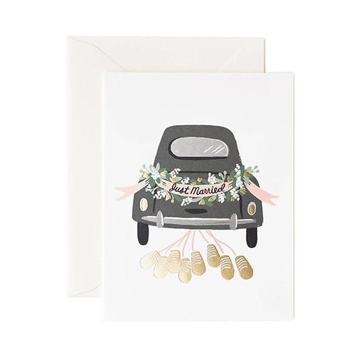 Rifle Paper Co Just Married Getaway Card Blank Inside