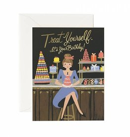 Rifle Paper Co Treat Yourself Birthday Card Blank Inside