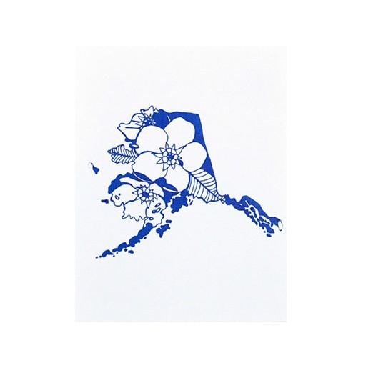"Thimblepress Alaska Letterpress Print 11x14"""