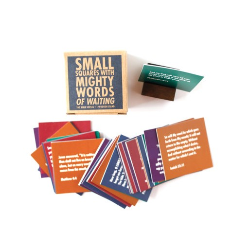 Thimblepress Small Squares With Mighty Words of Waiting