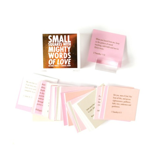 Thimblepress Small Squares With Mighty Words of Love