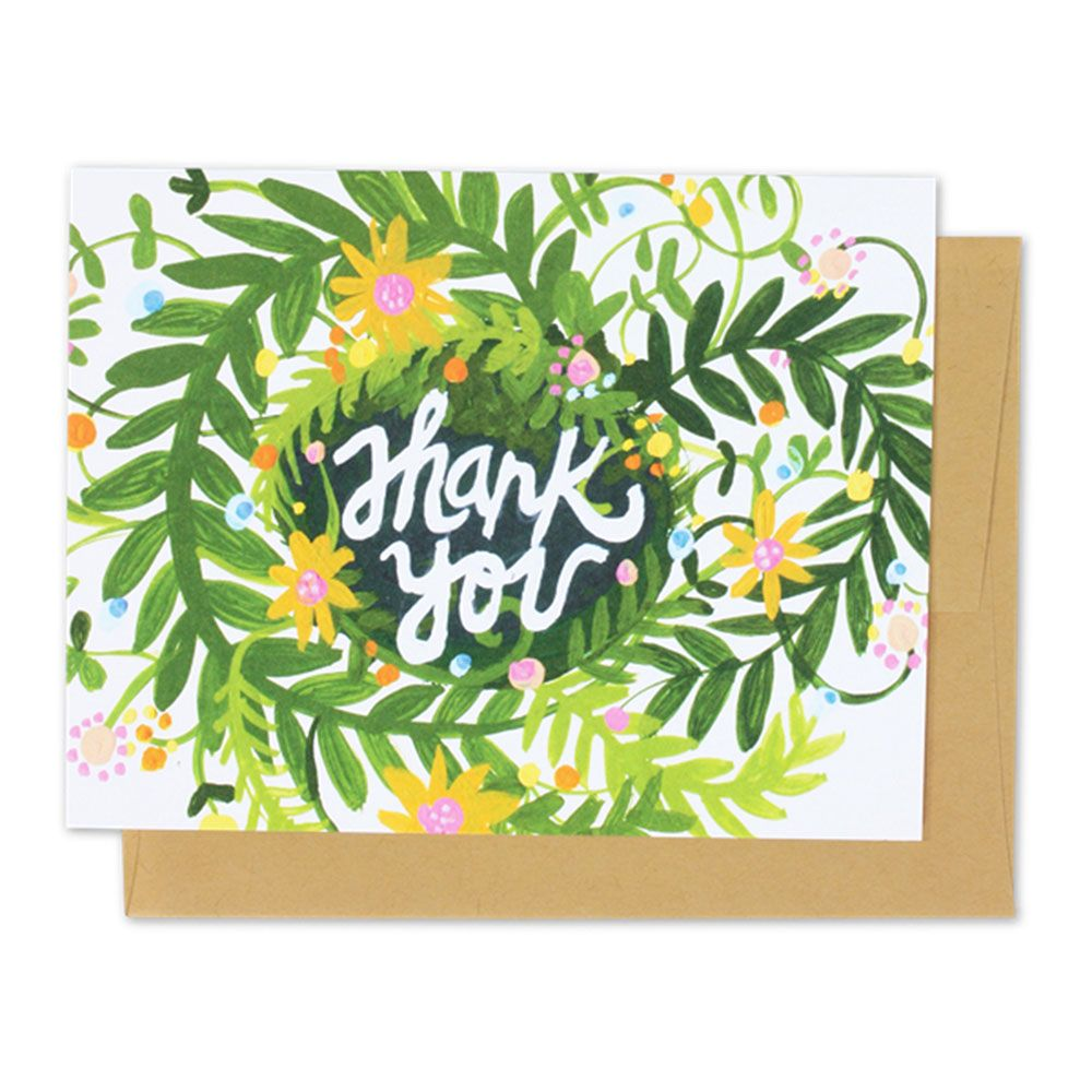 Thimblepress Spring Blooms Thank You Card