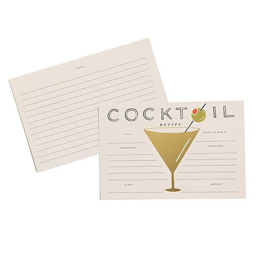Rifle Paper Co Pk of 12 Cocktail Recipe Cards