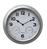 """16"""" wall clock in brushed Nickle"""