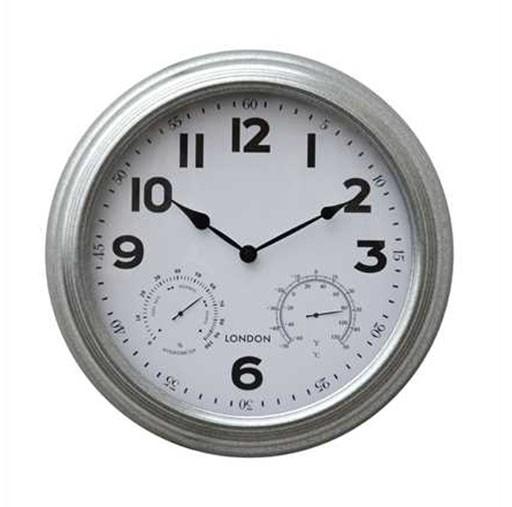 "16"" Wall Clock-Brushed Nickel"