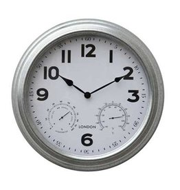 "16"" wall clock in brushed Nickle"