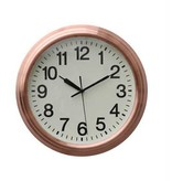 "14"" round wall clock in copper"