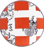 Gien Allure Armoiries Appetizer Plate Orange