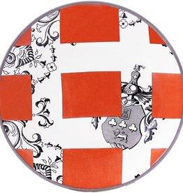 Gien Allure Armoiries Appetizer Plate Orange