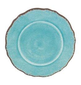 """Le Cadeaux Rustica Antique Turquoise Melamine 9"""" Salad Plate"""