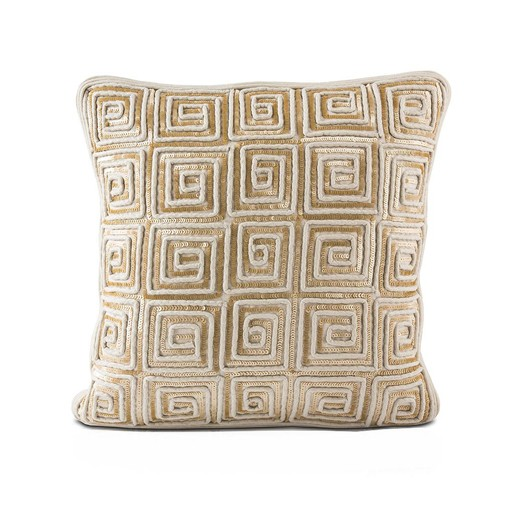 "16""x16"" Linen Pillow Maze of Sequins"