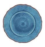 """Le Cadeaux Antique Blue Melamine 11"""" Dinner Plate"""