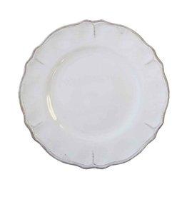 """Le Cadeaux Rustica Antique White Melamine 11"""" Dinner Plate"""