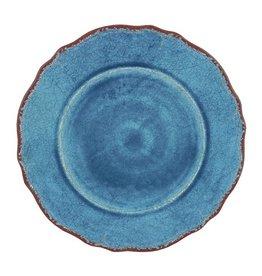 """Le Cadeaux Antique Blue Melamine 9"""" Salad Plate"""